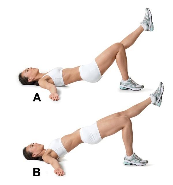 Упражнение - подъем одной ноги