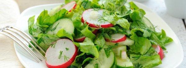 Легкие диетические салаты против лишнего веса