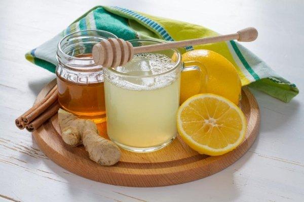 Лимон, мёд, имбирь, корица