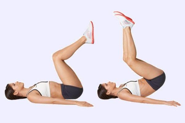 Обратные скручивания – лучшие упражнения для нижнего отдела пресса